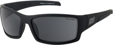 Defendor - Satin Black/Grey Polarised Lenses