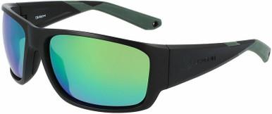 Tidal X - Matte Black H2O/Green Ionised Polarised LL Lenses
