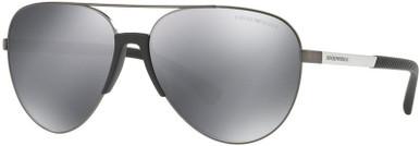 EA2059 - Matte Gunmetal/Light Grey Black Mirror Lenses