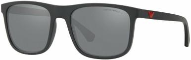 EA4129 - Matte Black/Light Grey Black Mirror Lenses