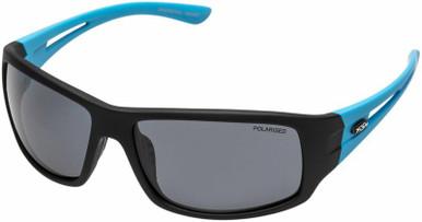 Swordtail - Black and Blue/Smoke Polarised Lenses