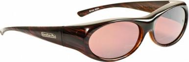 Binya - Brown Feather/Amber Polarised Lenses