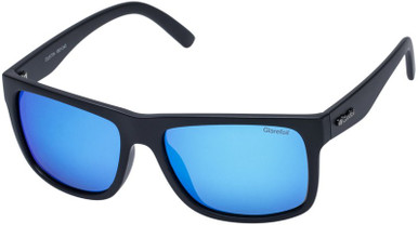 Dustin - Matte Black/Blue Mirror Polarised Lenses