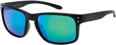 6670 - Matte Black/Green Mirror Lenses