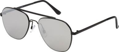 2817 - Black/Smoke Flash Mirror Lenses