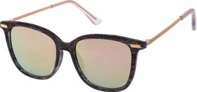 5798 - Black Wood/Pink Mirror Lenses