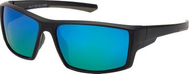 7027 - Matte Black/Blue Mirror Lenses