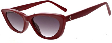Alessia - Opaque Red/Smoke Gradient Lenses