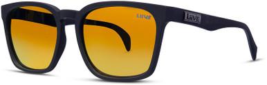 Alik -  Matte Black/Orange Mirror Polarised Lenses