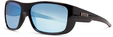 Black/Blue Mirror Polarised Lenses