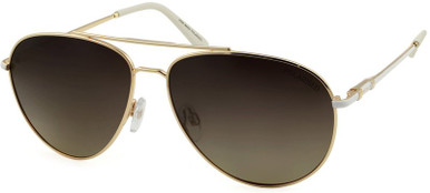 White and Gold/Brown Gradient Polarised Lenses