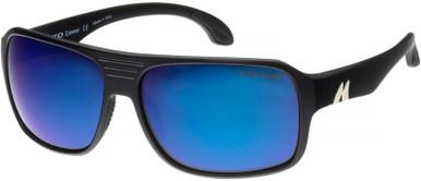 Ronin - Matte Black/Glass HD Blue Mirror Polarised Lenses