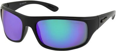 Sea Wolf - Black/Green Mirror Polarised Lenses