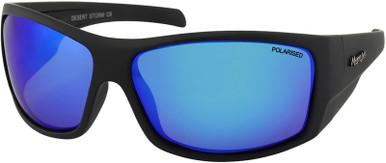 Matte Black/Blue White Mirror Polarised Lenses