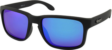 Matte Black/Blue Mirror Polarised Lenses