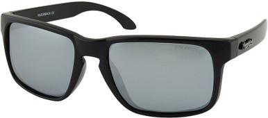 Razorback - Black/Silver Mirror Polarised Lenses