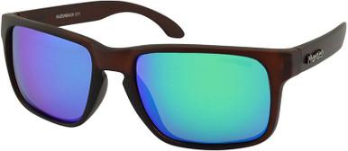 Razorback - Matte Brown/Green Mirror Polarised Lenses