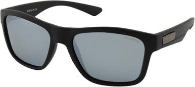 Surfs Up - Black/Silver Mirror Polarised Lenses