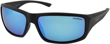 Matte Black/Ice Blue Mirror Polarised Lenses