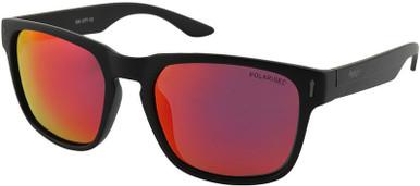 Matte Black/Black Red Mirror Polarised Lenses