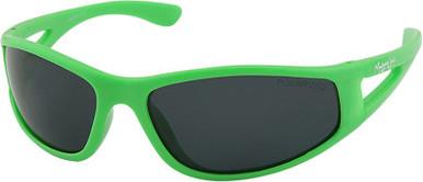Mangrove Jacks Kids Gator - Neon Green/Smoke Polarised Lenses