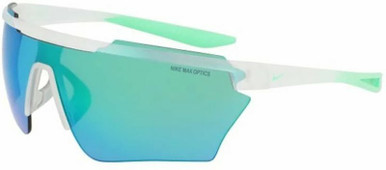Matte Clear/Green Mirror Lenses