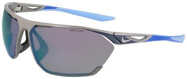 Satin Gunmetal/Milky Blue Mirror Lenses