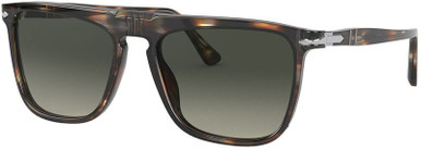 PO3225S - Striped Brown and Smoke/Grey Gradient Lenses