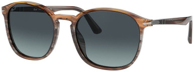 PO3215S - Striped Grey and Brown Gradient/Azure Gradient Blue Lenses