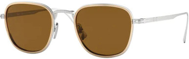 PO5007ST - Silver and Gold/Brown Polarised Lenses