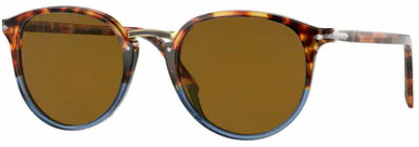 PO3210S - Brown Tortoise and Opal Blue/Brown Lenses 54 Eye Size