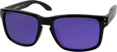 Ryder - Black/Violet Mirror Polarised Lenses