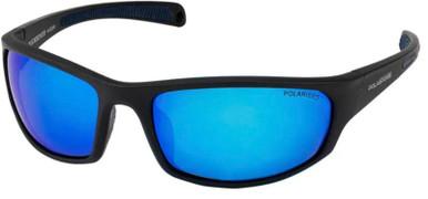 Ruckrover - Matte Black/Blue Mirror Polarised Lenses