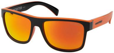 Mobster - Black and Orange/Orange Mirror Polarised Lenses