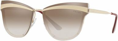 PR 12US - Beige and Marrone/Brown Silver Gradient Mirror Lenses