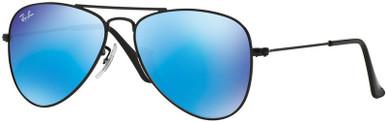 Matte Black/Blue Mirror Lenses