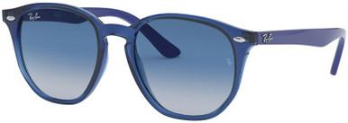 9070S - Transparent Blue/Grey Dark Blue Gradient Lenses