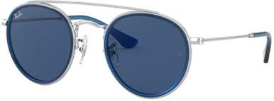 Silver and Blue/Dark Blue Lenses