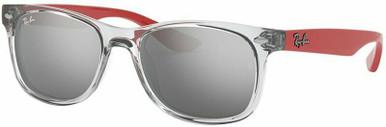 9052S Junior New Wayfarer - Transparent Grey/Grey Mirror Silver Lenses