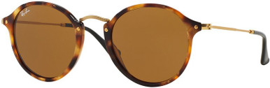 Round RB2447 - Spotted Brown Havana/Brown Glass Lenses 49 Eye Size