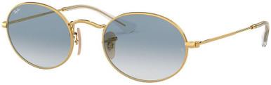 Oval Flat Lens RB3547N - Arista/Blue Gradient Glass Lenses 51 Eye Size