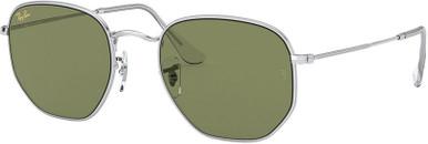Silver/Bottle Green Lenses 54 Eye Size