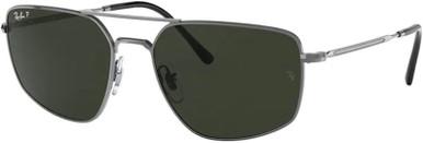 Gunmetal/Green Polarised Lenses