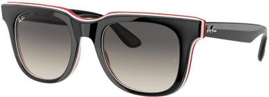 Black, White and Red/Grey Gradient Dark Grey Lenses