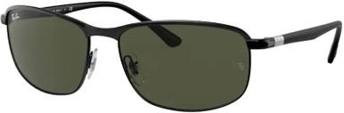 Black on Black/Green Lenses