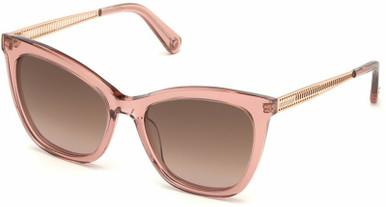 1112 - Pink Crystal/Brown Gradient Lenses