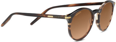 Shiny Stripped Brown/Drivers Gradient Polarised Lenses