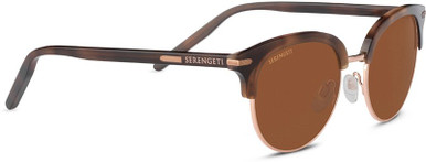 Shiny Brown and Rose Gold/Min Drivers Polarised Lenses