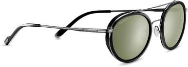 Geary - Shiny Dark Gunmetal and Black/Green 555nm Polarised Lenses