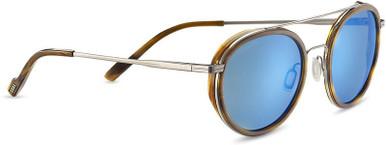 Shiny Gunmetal and Brown Buffalo/Blue 555nm Polarised Lenses